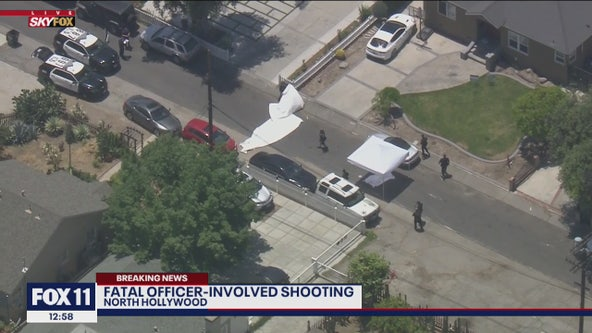 Suspect armed with sword fatally shot by LAPD officers in North Hollywood