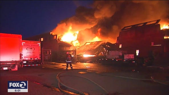 Inferno destroys warehouse at San Francisco's famous Fisherman's Wharf