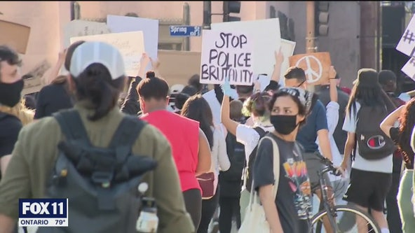 Protests declared unlawful assembly throughout downtown LA