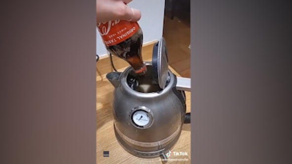 Like brand new: Woman cleans dirty tea kettle using Coca-Cola