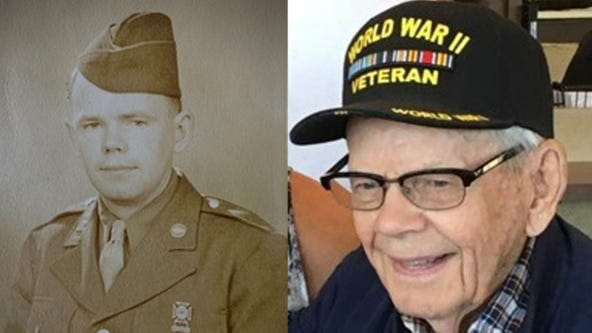 WWII veteran walking 100 miles for 100th birthday to raise money for COVID-19 relief