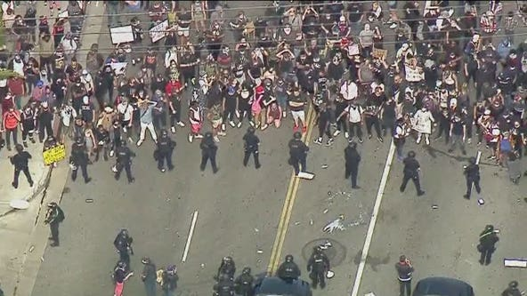 Mayor Eric Garcetti asks for National Guard amid violence in Los Angeles