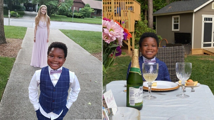 7-year-old throws personal prom for babysitter after hers...