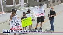 Protest underway in Manhattan Beach