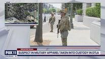 Suspect posing as National Guardsman taken into custody