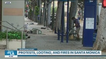 Cleanup begins in Santa Monica following looting, fires