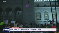 Peaceful protests continue in downtown LA