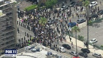Thousands join George Floyd protest in heart of Hollywood