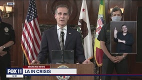 LA Mayor Garcetti says peaceful protests are welcome, crackdown on looters to continue