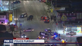 Suspect in custody following police pursuit near South LA