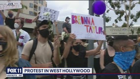 West Hollywood holds peaceful protest celebration for Breonna Taylor