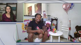 Dad supports daughter's imagination, black owned 'business'