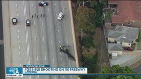 Shooting investigation underway on 110 Freeway in Gardena