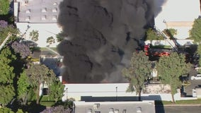 Commercial fire breaks out in La Verne