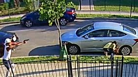 Wild shootout in Northeast DC captured on home surveillance video