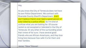 Temecula mayor resigns over email about police killings