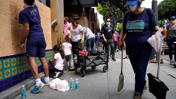 Community comes together to pick up the pieces in wake of Santa Monica lootings