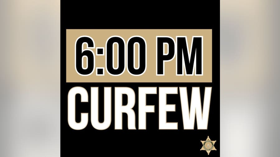 Countywide curfew issued for Riverside County beginning at 6 p.m. Monday