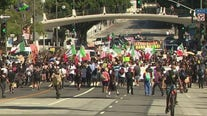 Hundreds join Unity March against police brutality in DTLA