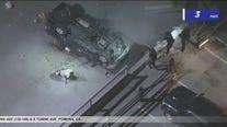 Pursuit in Pomona ends in crash