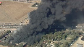 Fire damages Salvation Army building, spreads into field in Perris
