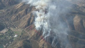 Crews battle 'Brook Fire' in the Cajon Pass