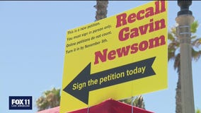 Several gather in Huntington Beach for 'Recall Gavin Newsom' rally
