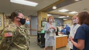 Military medical teams deployed to two Los Angeles-area hospitals amid coronavirus surge