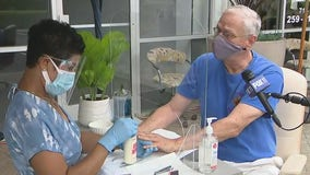 Nail salon in Tustin moves operations outside to keep doors open amid coronavirus closures