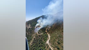 Wildfire burning in Angeles National Forest, hikers told to shelter in place