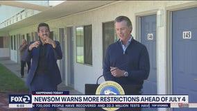 Newsom hints he will tighten coronavirus restrictions in California ahead of July 4
