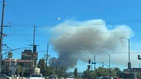Crews knock down 70-acre fire near Sepulveda Basin seen throughout San Fernando Valley