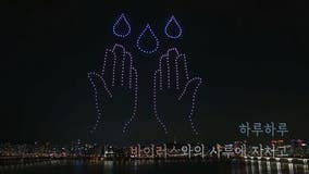 South Korea honors health workers, highlights importance of handwashing in elaborate drone light show