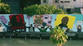 148-foot long Black Lives Matter mural unveiled outside Hollywood's Laugh Factory