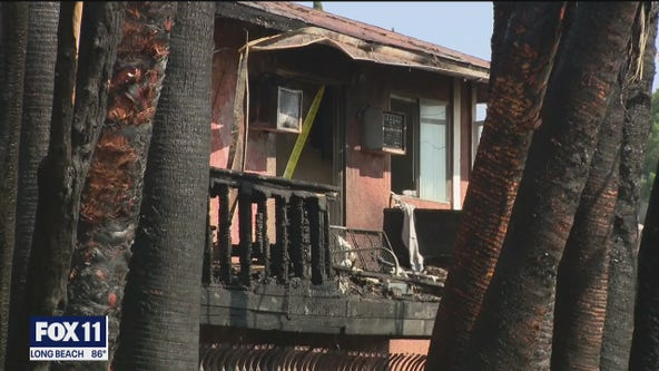 Five injured as two apartment buildings catch fire in Northridge