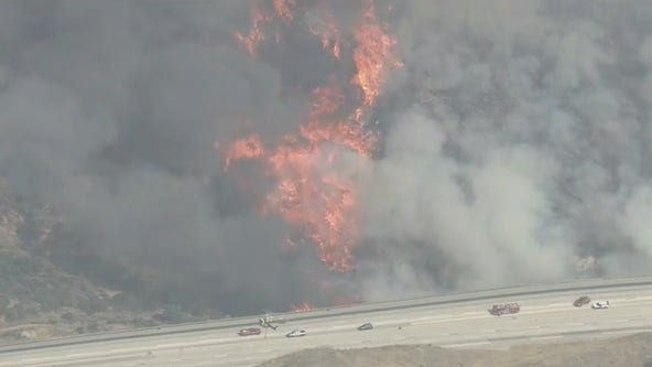 Mandatory evacuation orders issued after massive fire ignites in Santa Clarita