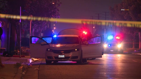 Man, two boys, wounded in car-to-car shooting in Gardena area; suspect sought