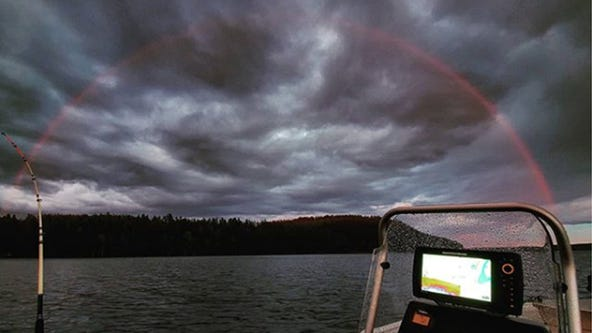 A stunning phenomenon: Rare, red rainbow spotted in Finland