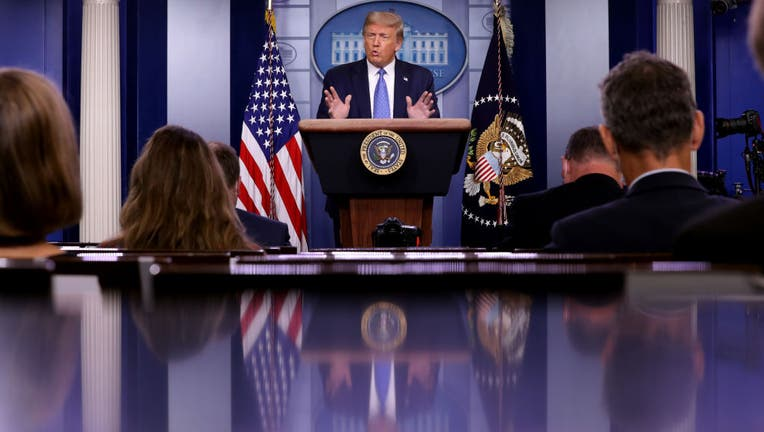35536ee6-President Trump Holds News Conference In White House Briefing Room