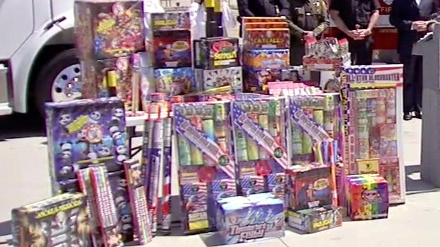 Pasadena father, son arrested for allegedly starting garage blaze with illegal fireworks