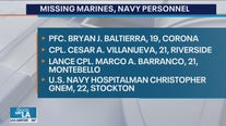 Marines release identities of 9 service members killed in training accident off California coast