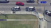 Suspects arrested after ditching vehicle, hitchhiking, bailing on foot in dramatic pursuit