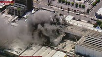 Fire erupts at downtown LA building