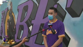 Local muralist celebrates Kobe Bryant Day through art