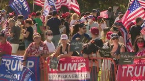 Hundreds of demonstrators join 'Rescue America' rally in Beverly Hills