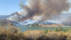 Forward progress of Lake Castaic fire stopped at 170 acres