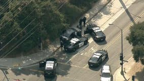 Police pursue reported stolen vehicle from Orange County to Los Angeles