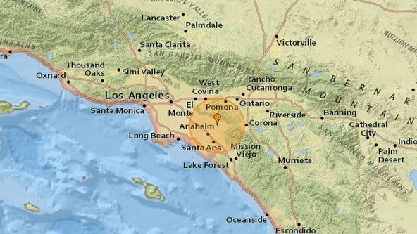 Preliminary 3.5M earthquake shakes near Yorba Linda