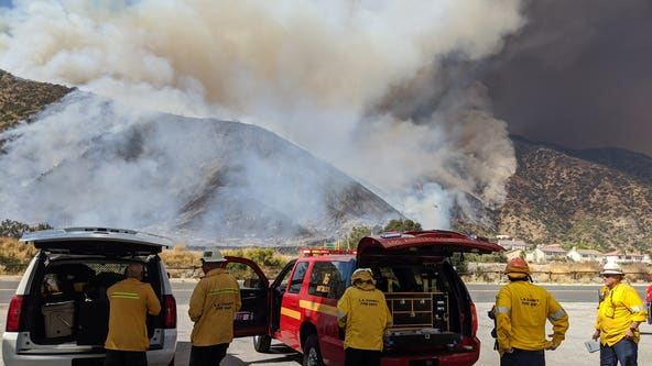 Mandatory evacuations issued for 'Ranch Fire' burning near Azusa