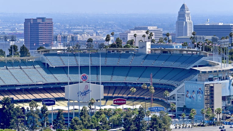 LOS ANGELES, CA - JULY 20: General view of Dodger Stadium before the game between the Los Angeles Dodgers and the Miami Marlins on July 20, 2019 in Los Angeles, California. (Photo by Jayne Kamin-Oncea/Getty Images)